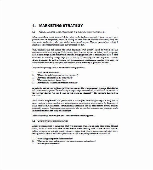 Marketing Plan Template Pdf Inspirational International Marketing Plan Template 10 Free Sample