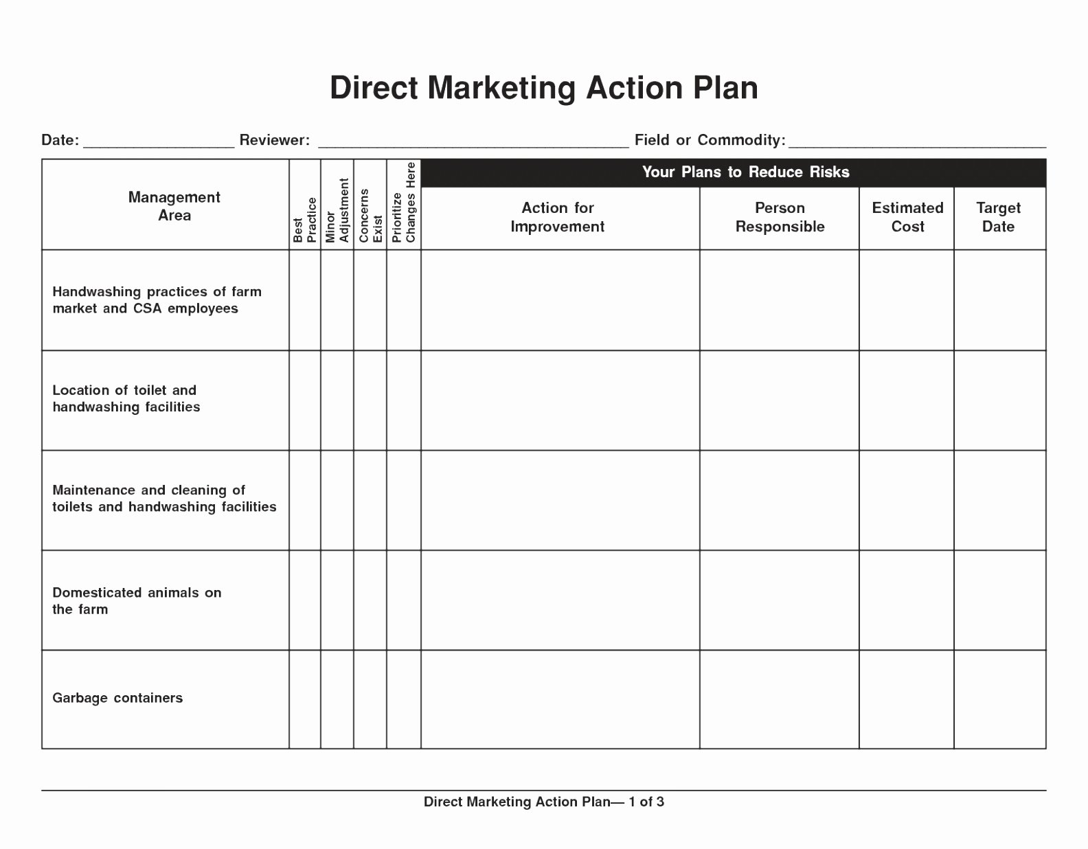 Marketing Plan Template Pdf Lovely Sample Marketing Action Plan Staruptalent