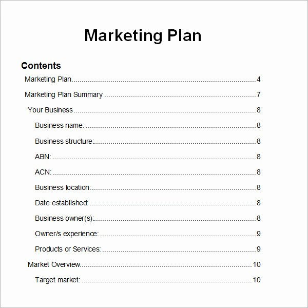 Marketing Plan Template Pdf New 14 Sample Marketing Plan Templates