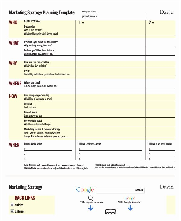 Marketing Plan Template Pdf Unique Marketing Strategy Template 13 Free Pdf Word format