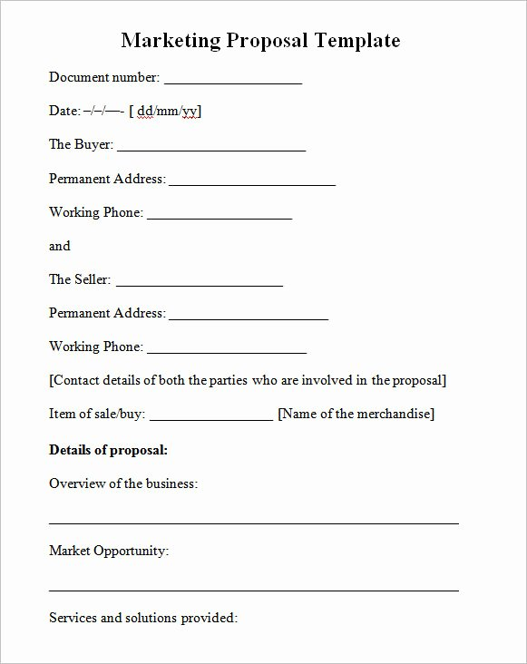 Marketing Proposal Template Word Best Of 19 Marketing Proposal Templates