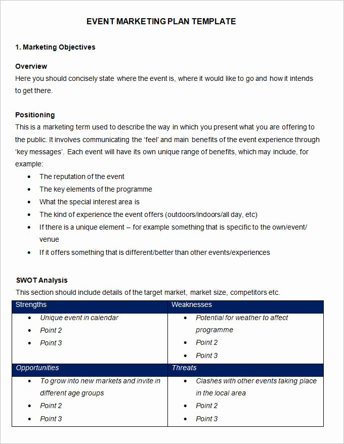 Marketing Proposal Template Word Fresh event Marketing Plan Template 11 Free Word Documents