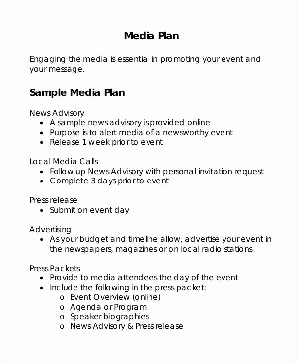 Marketing Proposal Template Word Inspirational Advertising Plan Template 7 Free Word Excel Pdf