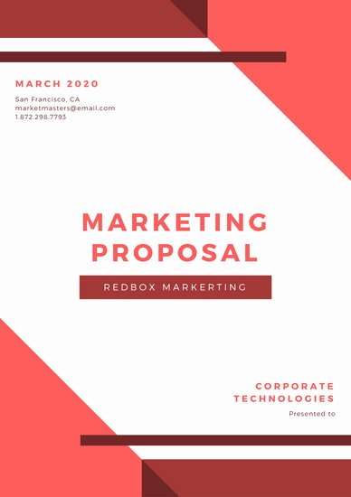 Marketing Proposal Template Word Inspirational Customize 111 Marketing Proposal Templates Online Canva