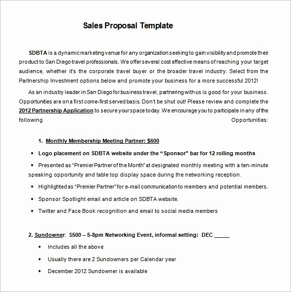 Marketing Proposal Template Word Inspirational Sales Proposal Template 17 Free Sample Example format