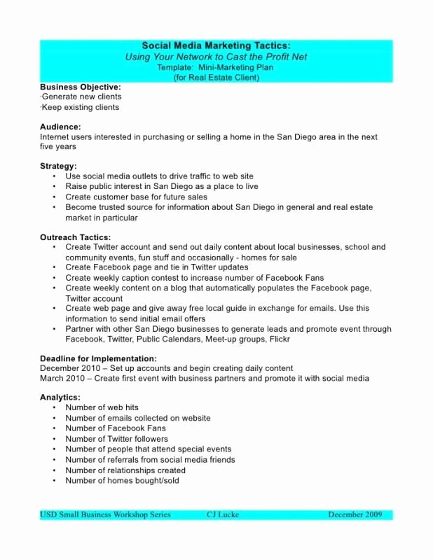 Marketing Proposal Template Word Inspirational social Media Proposal Template