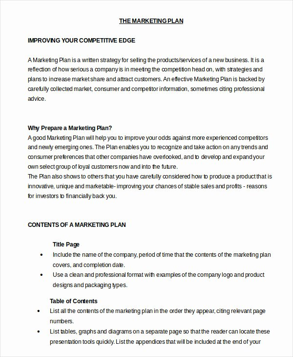Marketing Proposal Template Word New Marketing Plan Template 20 Free Word Excel Pdf Ppt