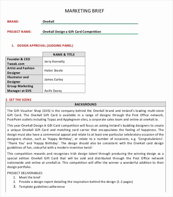 Marketing Report Template Word Awesome Marketing Brief Template Free Word Excel Documents