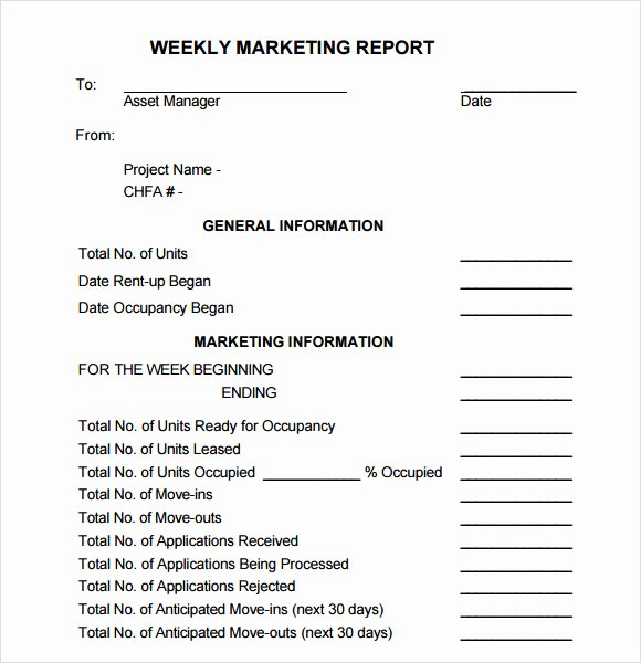 Marketing Report Template Word Inspirational Sample Marketing Report Template 9 Free Documents