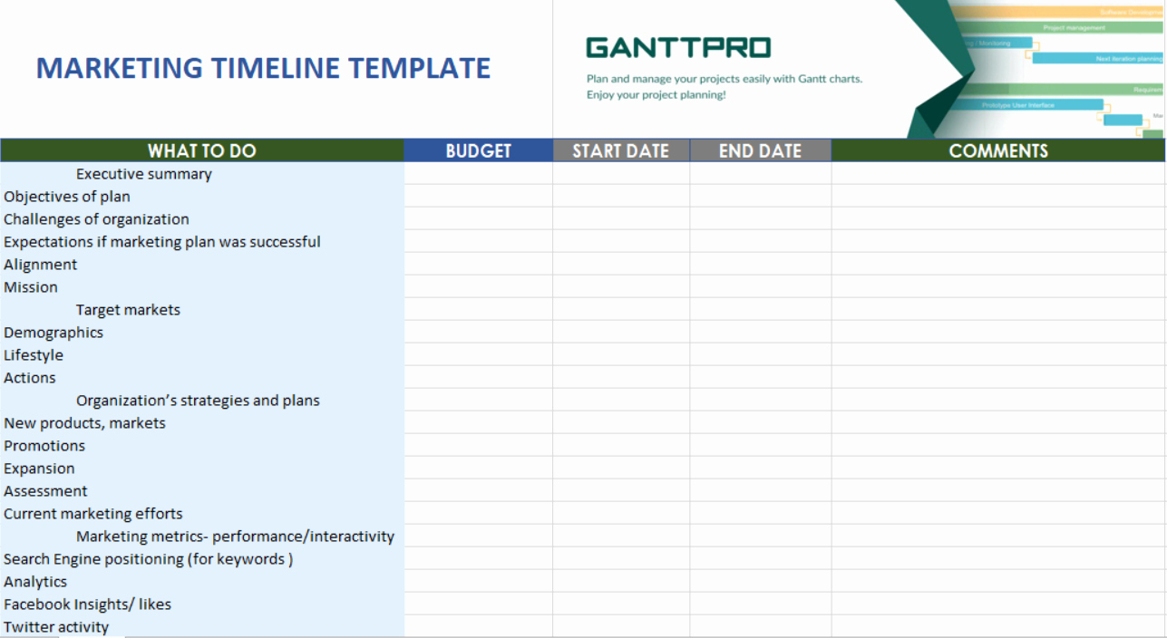 Marketing Timeline Template Excel Best Of Marketing Timeline Templates Free Download