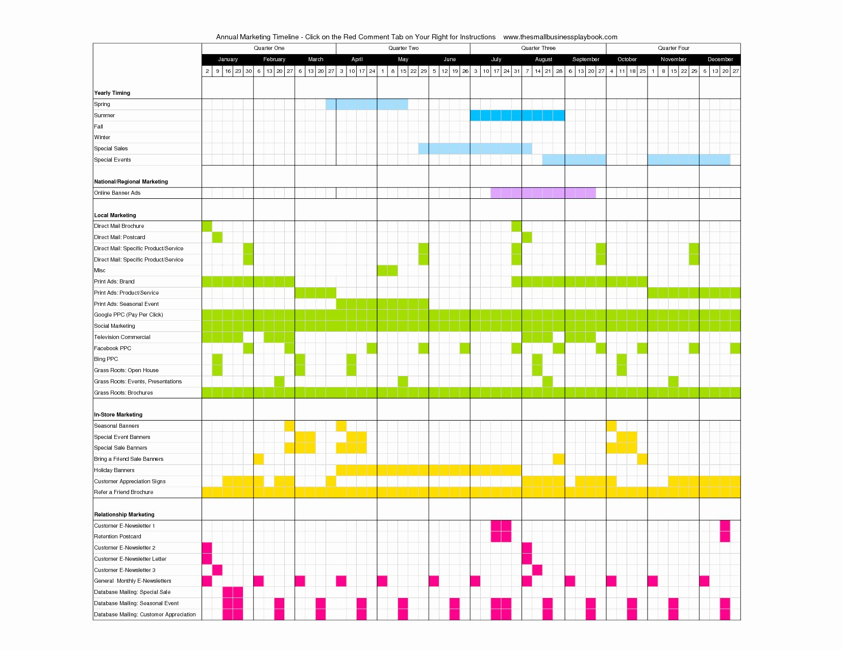 Marketing Timeline Template Excel Elegant Marketing Campaign Calendar Template Excel Example Of