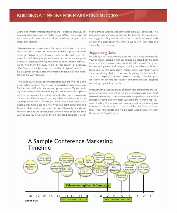 Marketing Timeline Template Excel Fresh 7 Marketing Timeline Templates – Free Sample Example