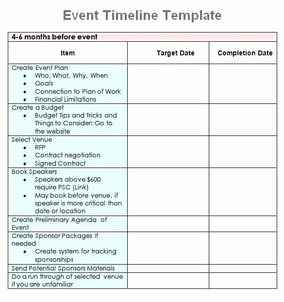Marketing Timeline Template Excel Fresh Marketing Plan Timeline Template 4 Free Printable Excel