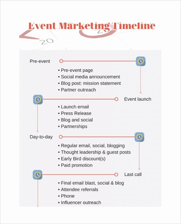 sample marketing timeline