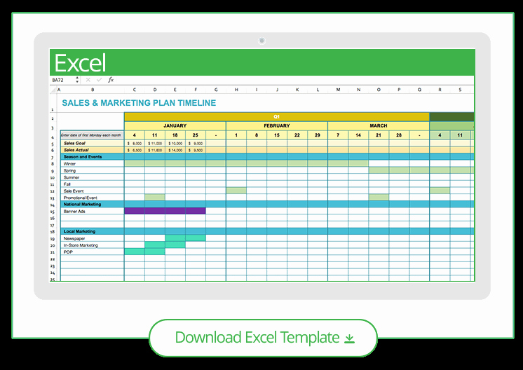 Marketing Timeline Template Excel Unique Free Marketing Timeline Tips and Templates Smartsheet