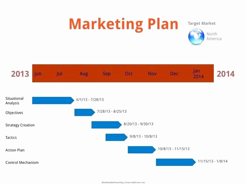 Marketing Timeline Template Excel Unique Marketing Plan Timeline Template Excel Free Templates for
