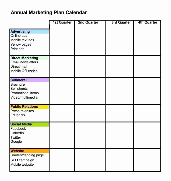 Marketing Timeline Template Excel Unique Marketing Plan Timeline Template Excel to Download