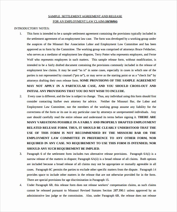 Marriage Settlement Agreement Template Beautiful 12 Sample Settlement Agreements