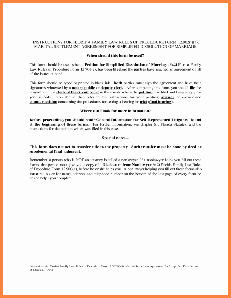 Marriage Settlement Agreement Template Beautiful 5 Marital Settlement Agreement Florida