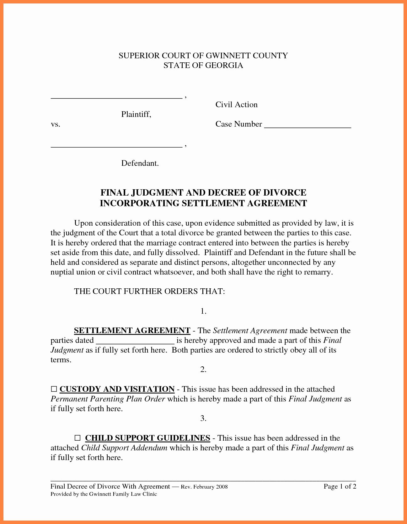 Marriage Settlement Agreement Template Elegant 6 Marital Settlement Agreement