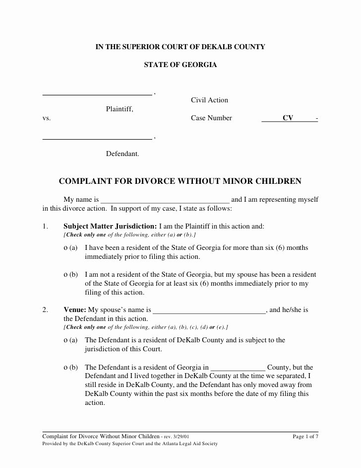 Marriage Settlement Agreement Template Fresh Marital Settlement Agreement Template Georgia Templates