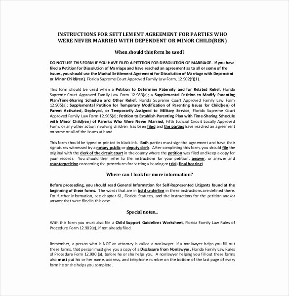 Marriage Settlement Agreement Template New 20 Settlement Agreement Templates Word Pdf Pages