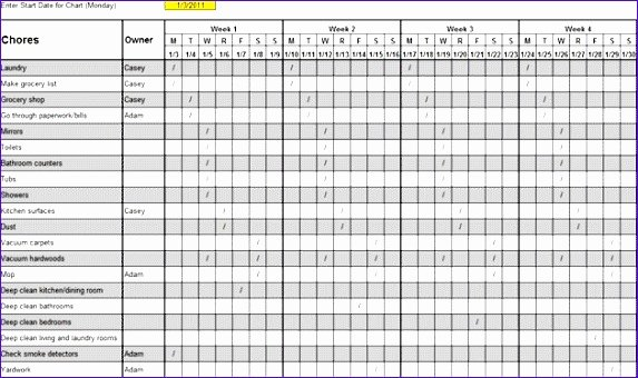 Master Cleaning Schedule Template Luxury 10 Daily Schedule Excel Template Exceltemplates