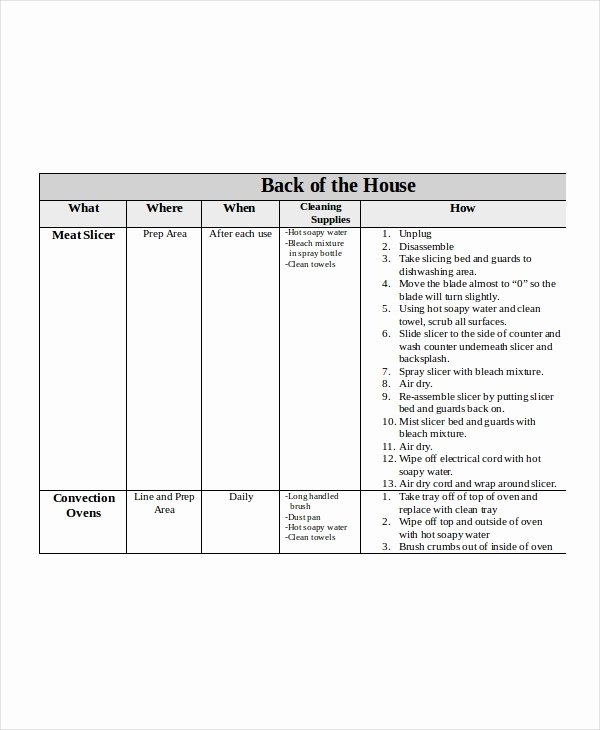 Master Cleaning Schedule Template New Master Schedule Template 11 Free Word Pdf Documents