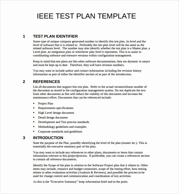 Master Test Plan Template Beautiful 9 software Test Plan Templates