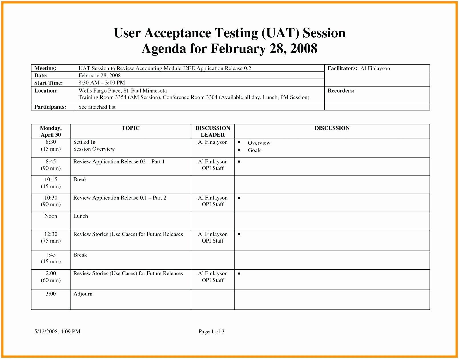 Master Test Plan Template Beautiful Best Test Plan Template