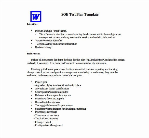 Master Test Plan Template Lovely 15 Test Plan Templates Pdf Doc