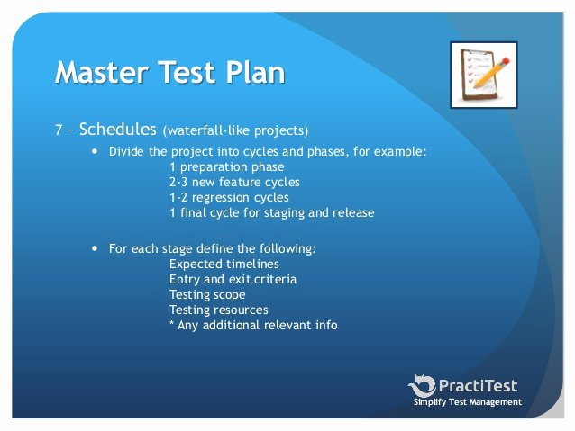 Master Test Plan Template Unique How to Create A Master Test Plan