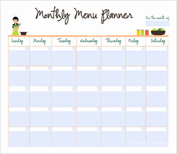 Meal Plan Calendar Template Awesome 9 Sample Monthly Schedule Templates to Download