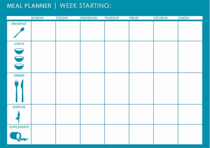 Meal Plan Calendar Template Awesome Monthly Weekly Meal Planner Template