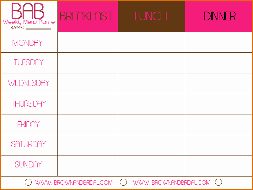 Meal Plan Calendar Template Beautiful 3 Meal Calendar Template