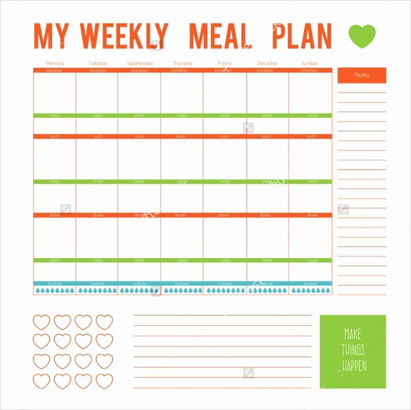 Meal Plan Calendar Template Beautiful Meal Plan Template 21 Free Word Pdf Psd Vector
