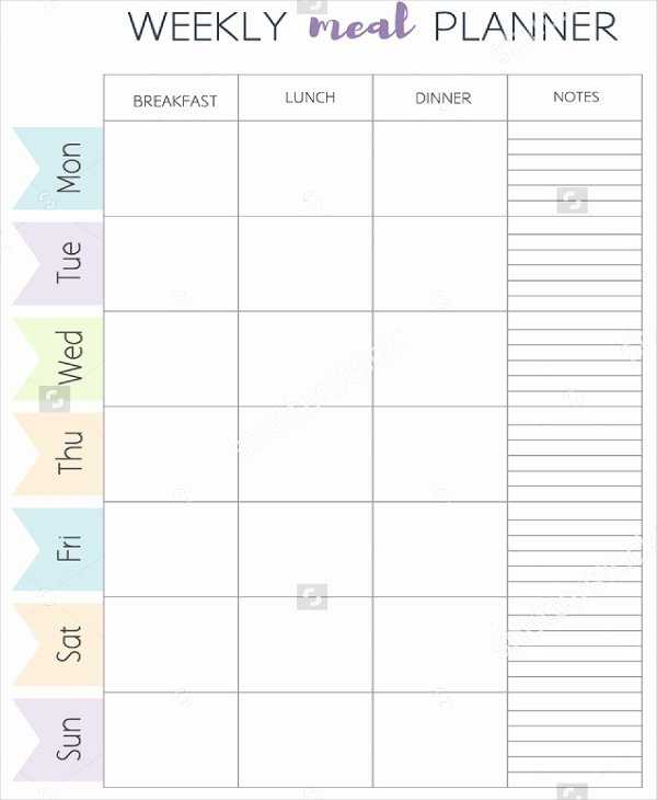 Meal Plan Calendar Template Best Of Meal Plan Template 21 Free Word Pdf Psd Vector