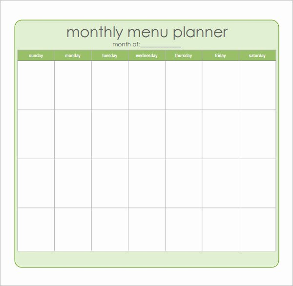 Meal Plan Calendar Template Elegant Meal Planning Template 17 Download Free Documents In Pdf