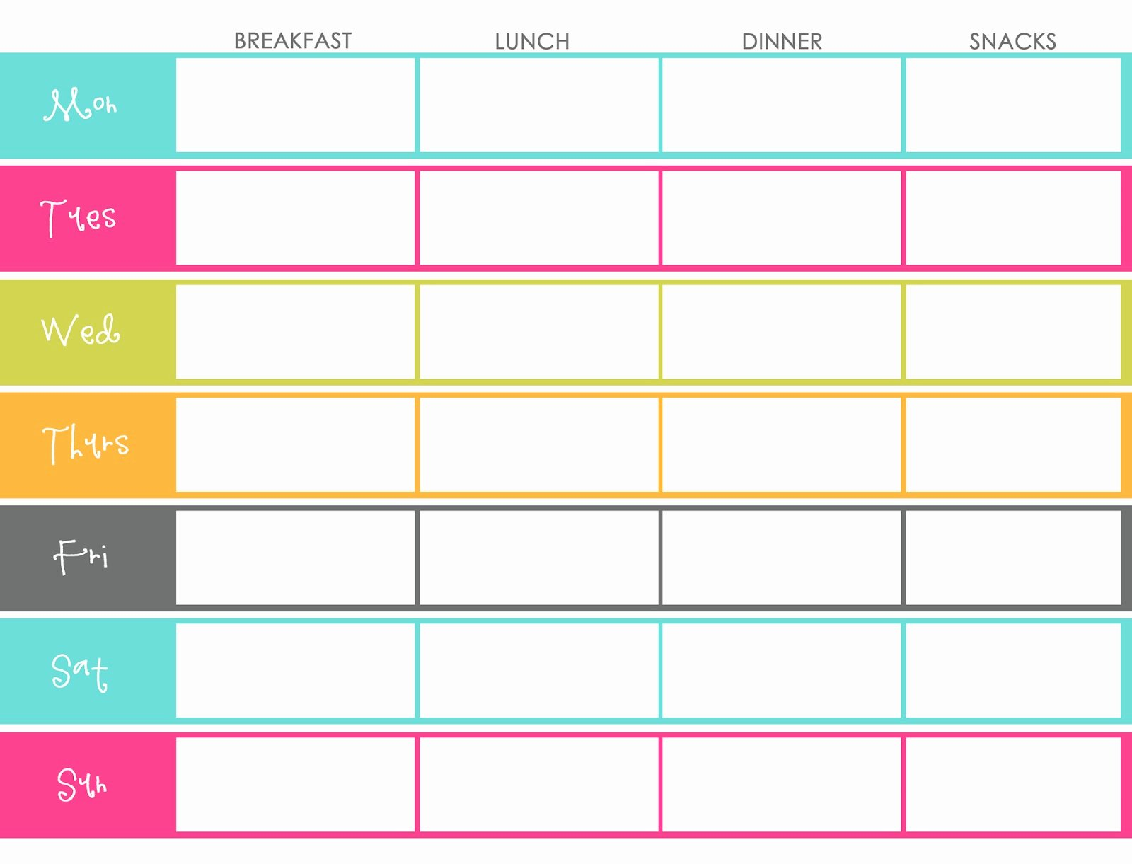 Meal Plan Calendar Template Inspirational Little Housewife Meal Planning