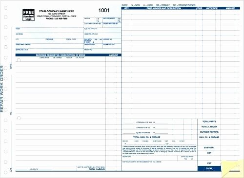 Mechanic Work order Template Awesome Auto Repair order Template Excel Mechanic Work order