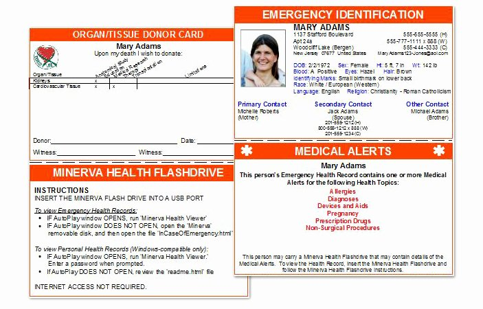 Medical Alert Card Template Best Of Medical Alert Card Template to Pin On Pinterest