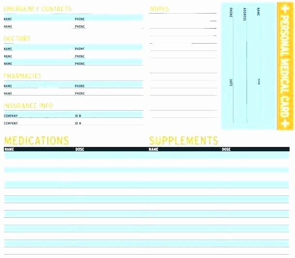 Medical Alert Card Template Fresh Medical Alert Wallet Card Template Id Cards – Guapamia