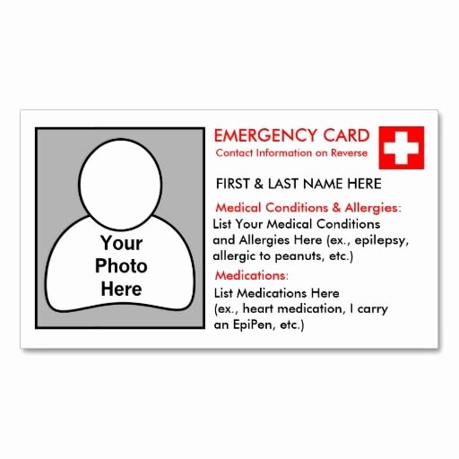 Medical Alert Card Template Luxury 26 Best Images About Dyi Kids Id Cards You Can Put