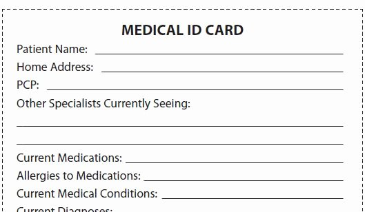 Medical Alert Card Template New Let S Talk About Ms Be A Take Charge Patient