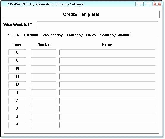 Medical Appointment Scheduling Template Beautiful Daily Appointment Calendar Template Literals Medical