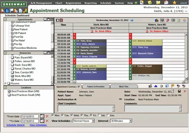 Medical Appointment Scheduling Template Inspirational Appointment Scheduling In Greenway Prime Suite