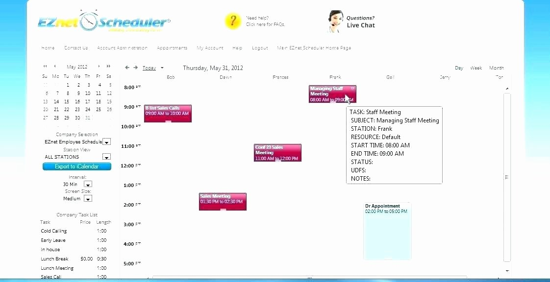 Medical Appointment Scheduling Template Inspirational Spreadsheet Templates Appointment Scheduling Template