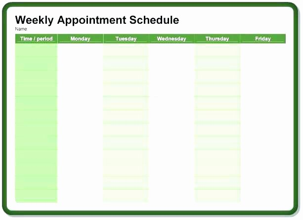 Medical Appointment Scheduling Template Luxury Printable Templates Appointment Medical Scheduling