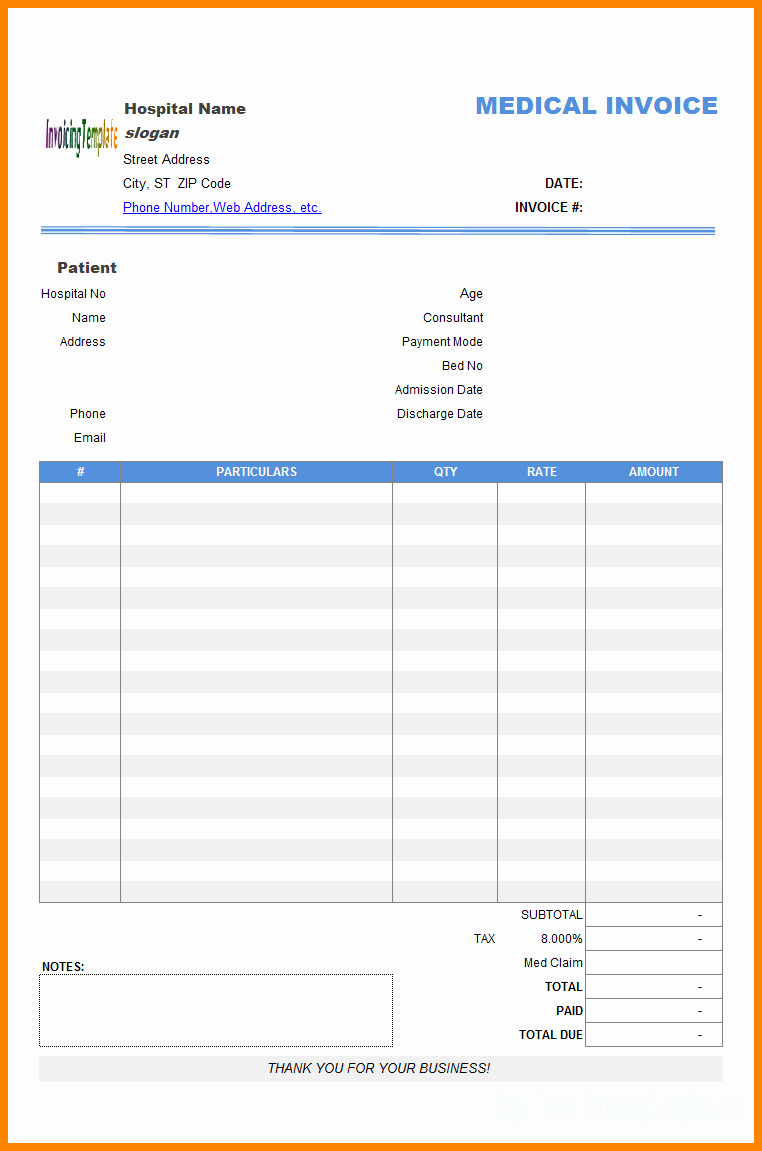 Medical Bill Statement Template Elegant 11 Medical Billing Statement Template Free