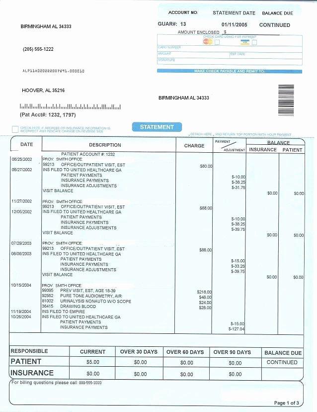 Medical Bill Statement Template Elegant Patient Statement [pines Health Services]
